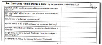 picture regarding Printable Quizzes for Fun referred to as Free of charge Xmas Quizzes, Absolutely free Xmas Quiz Handout